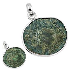 Roman coins ancient coinage 925 sterling silver pendant jewelry m70356