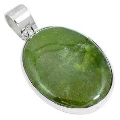 Natural green vasonite 925 sterling silver pendant jewelry m71086