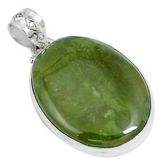Natural green vasonite 925 sterling silver pendant jewelry m71094