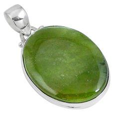 Natural green vasonite 925 sterling silver pendant jewelry m71097