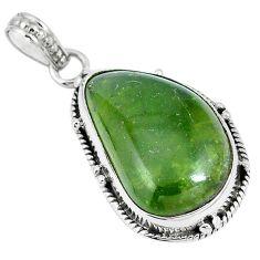 Natural green vasonite 925 sterling silver pendant jewelry m71105