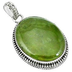 Natural green vasonite 925 sterling silver pendant jewelry m71111