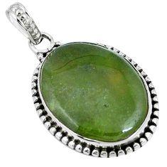 Natural green vasonite 925 sterling silver pendant jewelry m71112