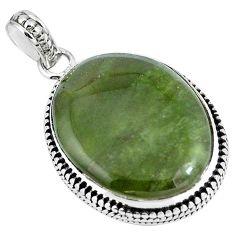 Natural green vasonite 925 sterling silver pendant jewelry m71114
