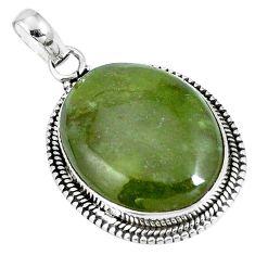 Natural green vasonite 925 sterling silver pendant jewelry m71115