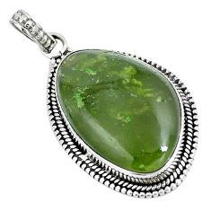 925 sterling silver natural green vasonite fancy pendant jewelry m71117