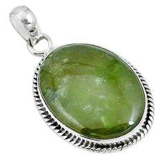 Natural green vasonite 925 sterling silver pendant jewelry m71119