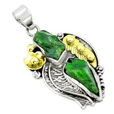 925 silver victorian green chrome diopside rough pendant jewelry m75154