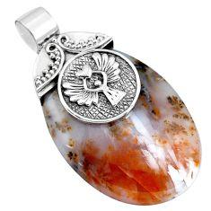 925 silver natural scenic russian dendritic agate pendant jewelry m76839