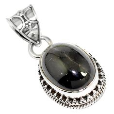 10.53cts natural black star 925 sterling silver pendant jewelry m78400