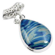 Natural blue swedish slag 925 sterling silver pendant jewelry m79938