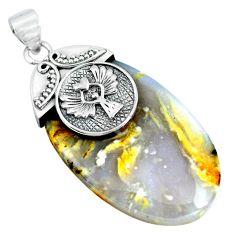 925 silver natural scenic russian dendritic agate pendant jewelry m83328