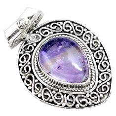 11.46cts natural purple ametrine 925 sterling silver pendant jewelry m84684
