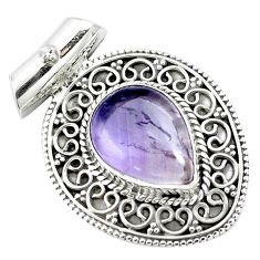 10.89cts natural purple ametrine 925 sterling silver pendant jewelry m84685