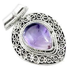 11.83cts natural purple ametrine 925 sterling silver pendant jewelry m84686