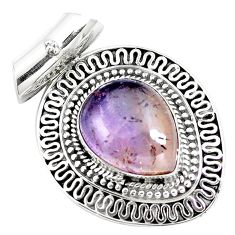 11.83cts natural purple ametrine 925 sterling silver pendant jewelry m84687