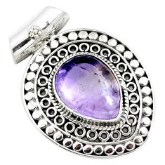 11.83cts natural purple ametrine 925 sterling silver pendant jewelry m84688