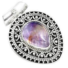 9.91cts natural purple ametrine 925 sterling silver pendant jewelry m84689