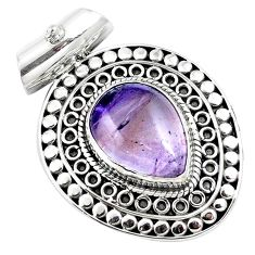 11.05cts natural purple ametrine 925 sterling silver pendant jewelry m84690