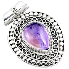 9.91cts natural purple ametrine 925 sterling silver pendant jewelry m84698