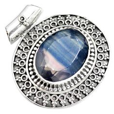16.42cts natural faceted fluorite 925 sterling silver pendant jewelry m84704