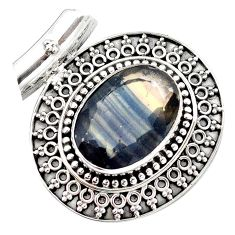 16.42cts natural faceted fluorite 925 sterling silver pendant jewelry m84734