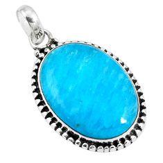 Blue smithsonite 925 sterling silver pendant jewelry m85559