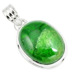 16.20cts natural green chrome diopside 925 sterling silver pendant m86060