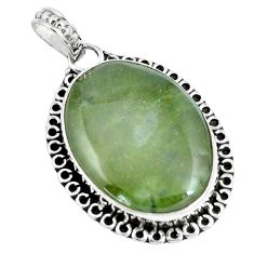 19.23cts natural green vasonite 925 sterling silver pendant jewelry m91415