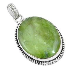 925 sterling silver 24.00cts natural green vasonite pendant jewelry m91416