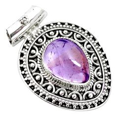 925 sterling silver 11.04cts natural purple ametrine pear pendant jewelry m91964