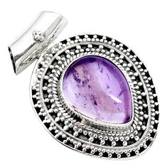 9.72cts natural purple ametrine 925 sterling silver pendant jewelry m91965