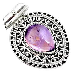 10.78cts natural purple ametrine 925 sterling silver pendant jewelry m91967