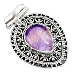10.44cts natural purple ametrine 925 sterling silver pendant jewelry m91969