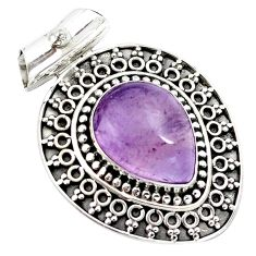 10.44cts natural purple ametrine 925 sterling silver pendant jewelry m91970