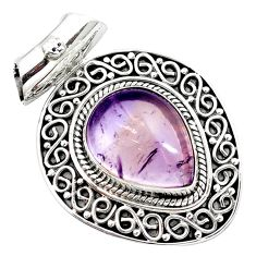 10.47cts natural purple ametrine 925 sterling silver pendant jewelry m91973