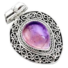 10.49cts natural purple ametrine 925 sterling silver pendant jewelry m91974