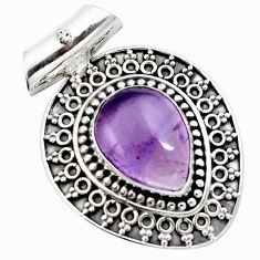 925 sterling silver 10.68cts natural purple ametrine pear pendant jewelry m91975