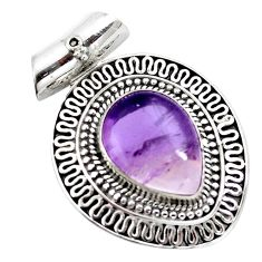 10.47cts natural purple ametrine 925 sterling silver pendant jewelry m91976