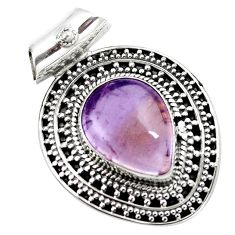 10.47cts natural purple ametrine 925 sterling silver pendant jewelry m91977