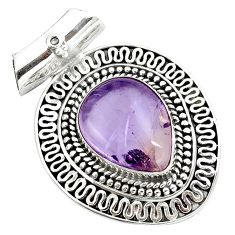 11.05cts natural purple ametrine 925 sterling silver pendant jewelry m91980