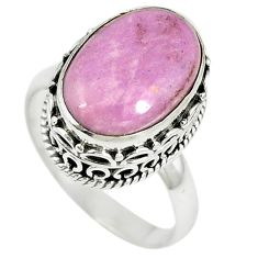 Natural purple phosphosiderite (hope stone) 925 silver ring size 8 m10329