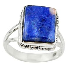Natural blue sodalite 925 sterling silver ring jewelry size 7.5 m14377