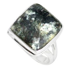 Natural bronze astrophyllite (star leaf) 925 silver ring size 8 m18479