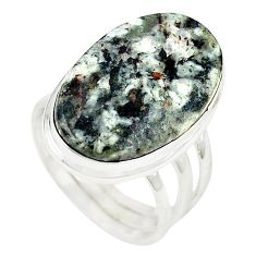 Natural bronze astrophyllite (star leaf) 925 silver ring size 8.5 m24834