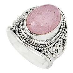 925 sterling silver natural pink morganite oval ring jewelry size 6.5 m26769