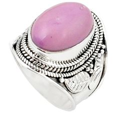 Natural purple phosphosiderite (hope stone) 925 silver ring size 6 m26821