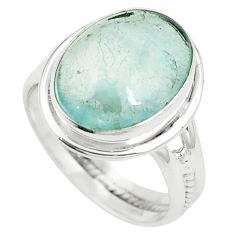 Natural untreated blue topaz 925 sterling silver ring size 8.5 m33601