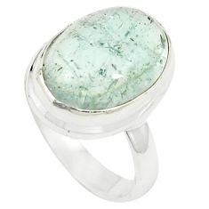 Natural untreated blue topaz 925 sterling silver ring size 5.5 m33603