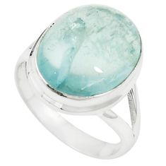 Natural untreated blue topaz 925 sterling silver ring size 7.5 m33604